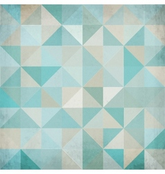 Vintage blue triangular background vector image vector image