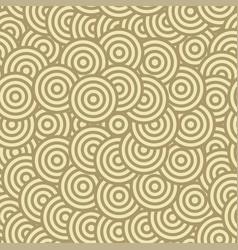brown circle seamless pattern vector image vector image