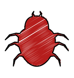 bug virus alert icon vector image