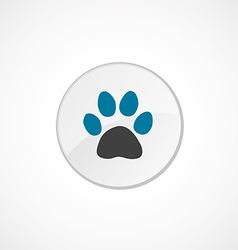cat footprint icon 2 colored vector image