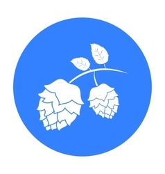 Hops icon in black style isolated on white vector image vector image