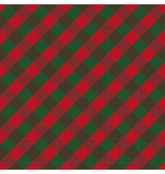 Seamless checked background vector image vector image