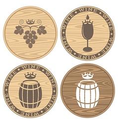 Wood barrels with wine Logo vector image