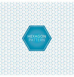 abstract geometric blue gray hexagon pattern vector image vector image