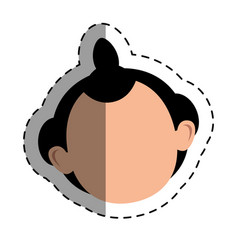 japanese ethnic man avatar vector image vector image