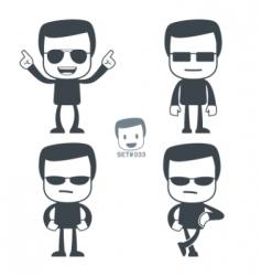 macho icon man vector image