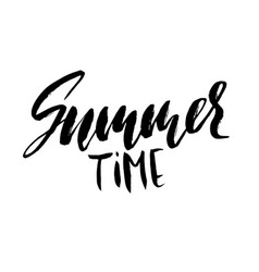 summer time hand drawn lettering vector image