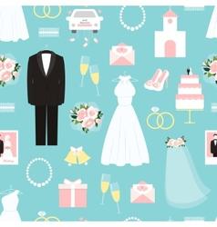 Wedding seamless background pattern vector image