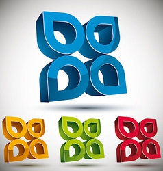 3d abstract icon vector