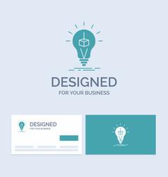 3d cube idea bulb printing box business logo vector