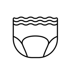 Adult diaper linear icon goods for elderly vector