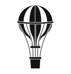 Air balloon journey icon simple style vector