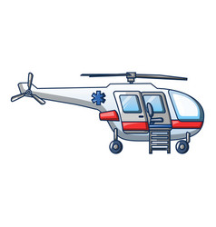 ambulance helicopter icon cartoon style vector image