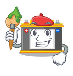 Artist accomulator in the a character shape vector
