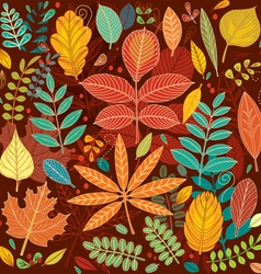 background autumn leaves vector image