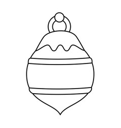 Ball ornament christmas related icon image vector
