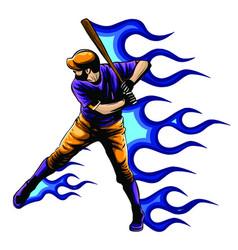 baseball player batter vector image