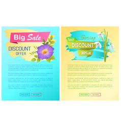 Big spring best sale advertisement labels snowdrop vector