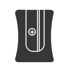Black pencil sharpener graphic vector
