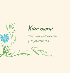 Business card with floral ornament in indian style vector