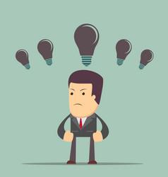 business concept no ideas lamps vector image