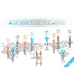 businessman concept business world orange vector image
