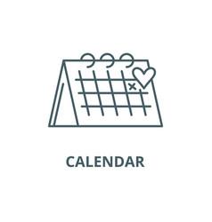 calendar line icon calendar outline sign vector image