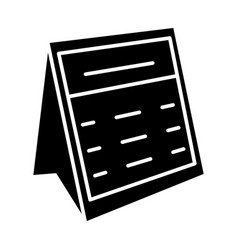calendar note icon black vector image