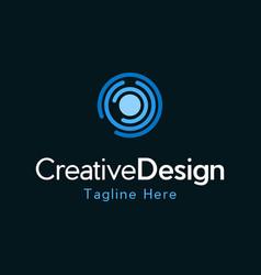 Center circular networking creative logo vector