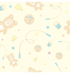 Children Teddy Bear Pattern vector image