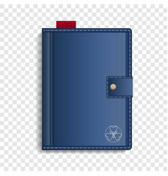 Closed sketchbook icon realistic style vector