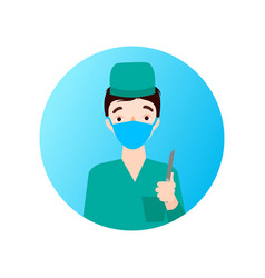 dear medical officer the doctor is in medical vector image