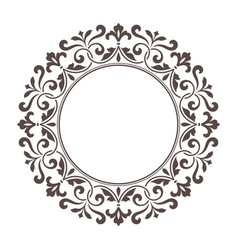 decorative round frame for design template vector image