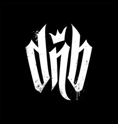 Dnb lettering for drum and bass fans vector
