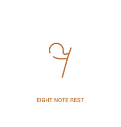 Eight note rest concept 2 colored icon simple vector