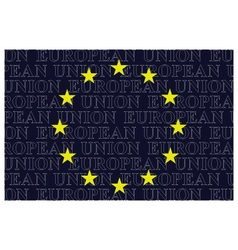 European Union Text Flag vector