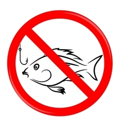 Fishing Prohibited Sign vector image