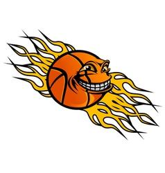 Flying basketball ball vector