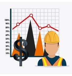 Fuel prices economy design vector image