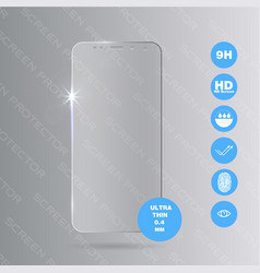 Glass screen protector vector