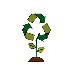 Go green ecology vector