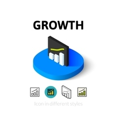 Growth icon in different style vector