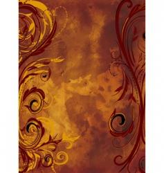 grunge background floral vector image