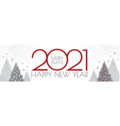 Happy new 2021 year flyer design template elegant vector