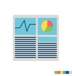Hash rate flat icon vector