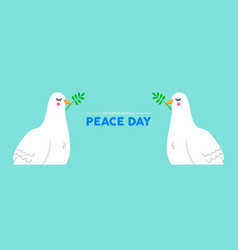 International peace social banner of white dove vector
