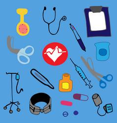 kit on light blue background vector image