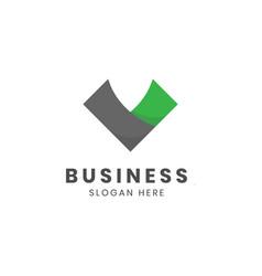 letter v business logo design vector image
