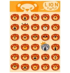Lion emoji icons vector
