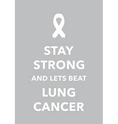 lung cancer poster vector image